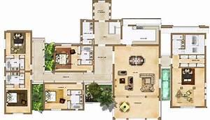 plan villa maroc plan maison pinterest maroc plans With attractive plan de maison gratuit 6 les maisons americaines