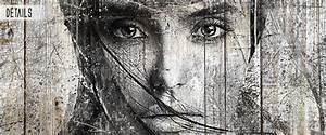 Tableau Deco Noir Et Blanc : tableau d co bois de palette noir et blanc ~ Melissatoandfro.com Idées de Décoration