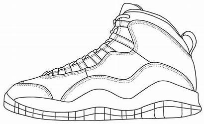 Jordan Coloring Pages Michael Shoes Printable Getcolorings