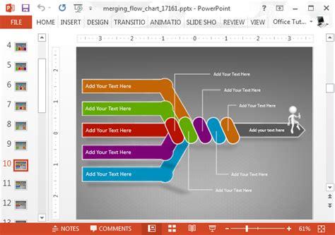 animated flow chart powerpoint template slidehuntercom