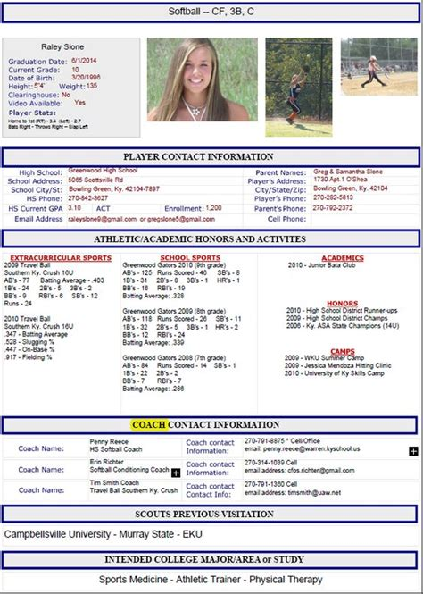 Soccer Resume Template by Athletic Resume Template Free Resume Format Templates