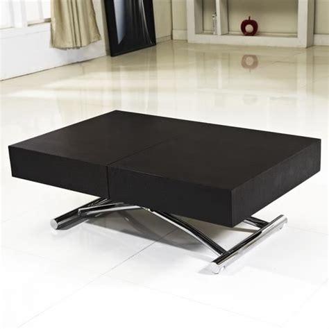 soldes ustensiles cuisine table basse relevable extensible bois noir achat