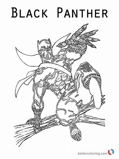Panther Coloring Marvel Pages Printable Superhero Bettercoloring