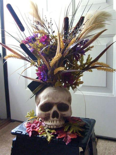 halloween skelton skull flower arrangement decoration sale