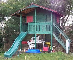 Fabriquer Un Toboggan : comment fabriquer un toboggan cabanes abri jardin ~ Mglfilm.com Idées de Décoration