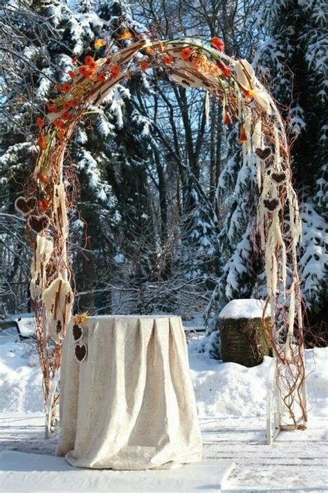 winter wedding arches  altars   inspired