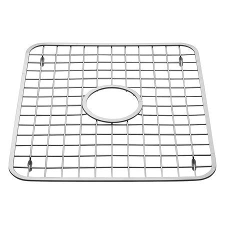 Gia Kitchen Sink Protector   Wire Grid Mat with Center