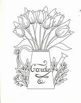 Coloring Pages Watering Cool Garden Flowers Stuff Flower Colour Floral Uploaded User Board Comments sketch template
