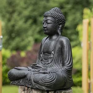 Statue De Bouddha : statue bouddha assis position offrande noir 42 cm ~ Teatrodelosmanantiales.com Idées de Décoration