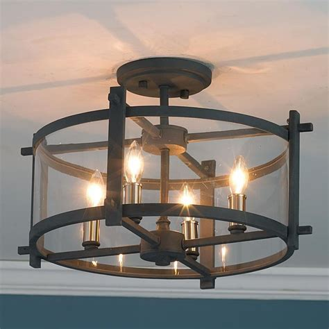 semi flush kitchen ceiling lights clearly modern semi flush ceiling light lighting 7895