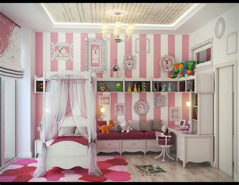 White And Pink Little Girls Bedroom Ideas