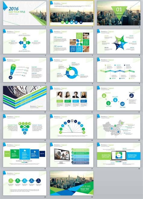 simple business report creative powerpoint template