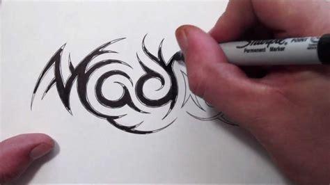custom hidden tribal  tattoo design madison youtube