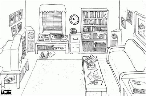 Bilder Wohnzimmer Schwarz Weiss by Living Room Clipart Preposition Pencil And In Color