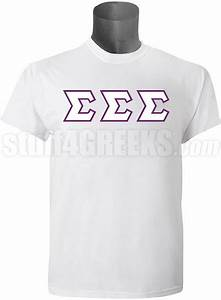 tri sigma greek letter t shirt white screen printed With tri sigma letter shirts