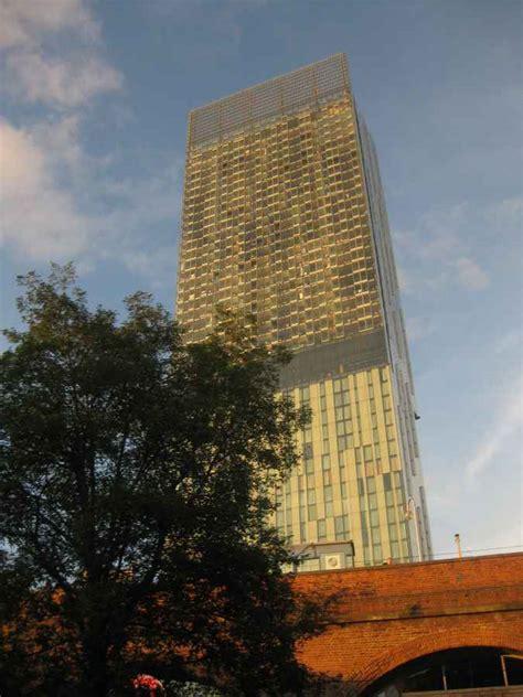 hilton hotel manchester  deansgate  architect