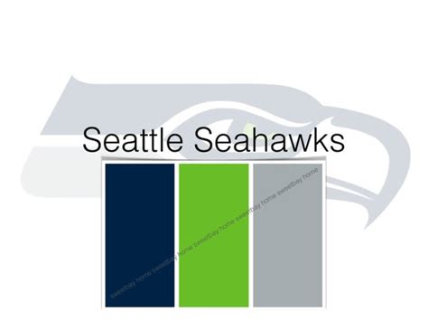 items similar to sherwin williams paint palette color card seattle seahawks etsy