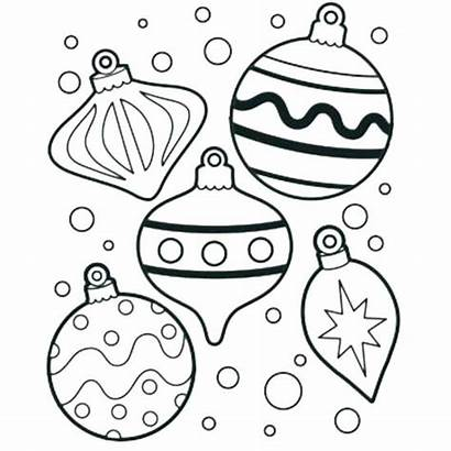 Christmas Coloring Printable Pages Ornaments Tree Getdrawings