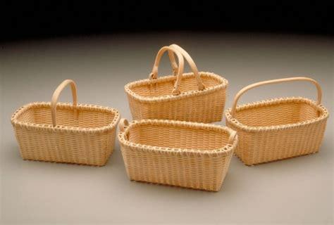 Miniature Beveled Baskets | Alice Ogden Black Ash Baskets