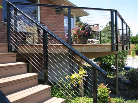 wire banister deck railing ideas