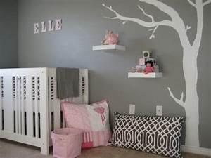 Deco Chambre Bebe Fille : d co chambre b b fille en gris pourquoi pas ~ Teatrodelosmanantiales.com Idées de Décoration