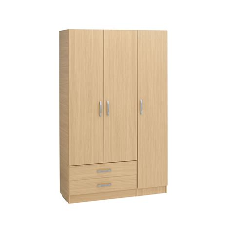 One Door Wardrobe With Drawers by Budget 3 Door Wardrobe 2 Drawers Ideal Furniture