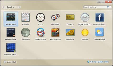 gadgets bureau windows 7 window 7 desktop gadgets free portal