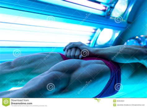 bodybuilder in solarium stock photo image 39454024