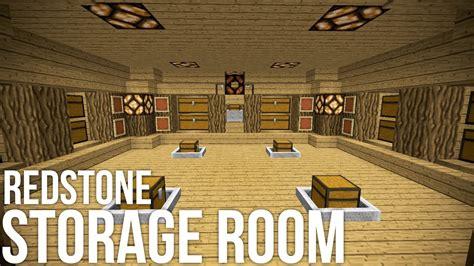 minecraft coolest redstone storage room redstone invention youtube