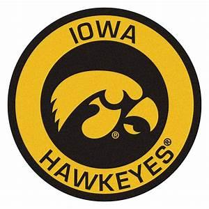 """University of Iowa Hawkeyes Logo Roundel Mat - 27"""""""