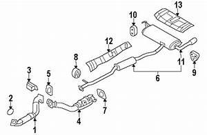 Nissan 20651jg30a Genuine Oem Front Pipe Mount