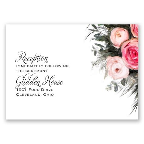 ethereal garden reception card invitations  dawn