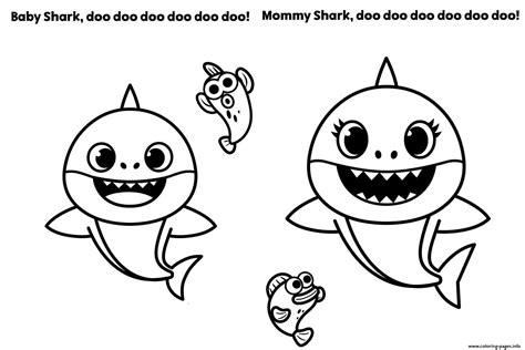 Grandpa Shark Pinkfong Coloring Page