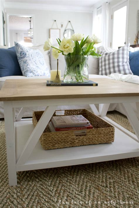 Perfect for living rooms with sectionals! DIY Modern Farmhouse Coffee Table | Modern farmhouse coffee table, Modern farmhouse diy, Coffee ...