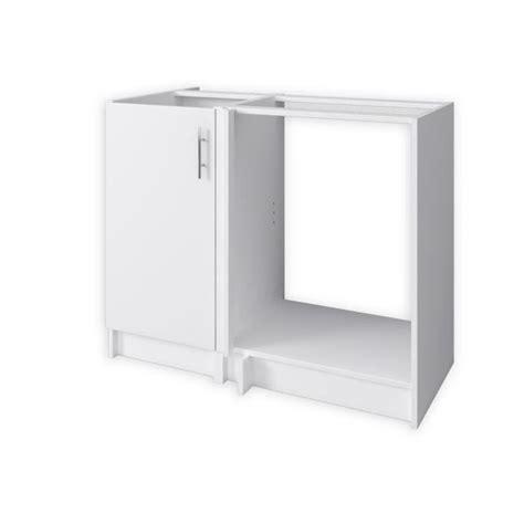 meuble bas d angle cuisine obi meuble d 39 angle de cuisine réversible 100 cm blanc mat achat vente elements bas caisson