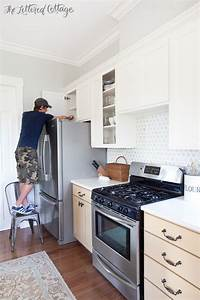kitchen cabinet makeover how to paint cabinets the With what kind of paint to use on kitchen cabinets for thick stickers