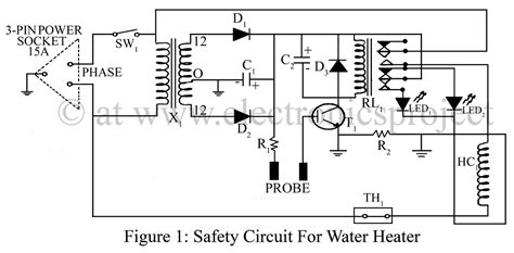 safety circuit  water heater electronics project