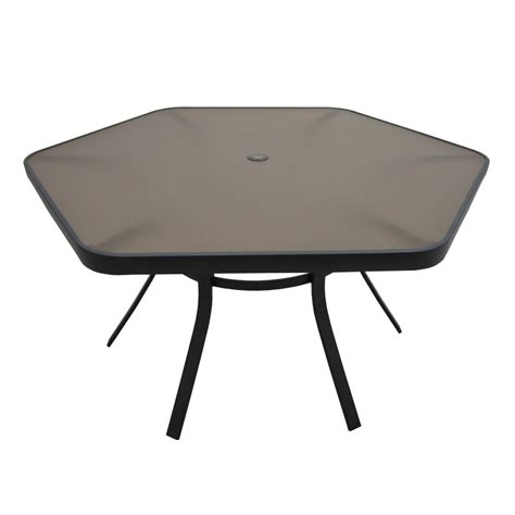 outdoor furniture tables only shop garden treasures hayden island 56 in w x 50 in l