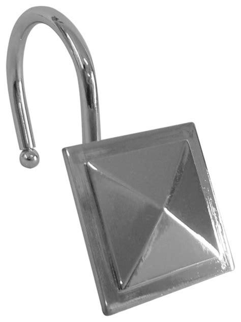 shower hooks square chrome finish