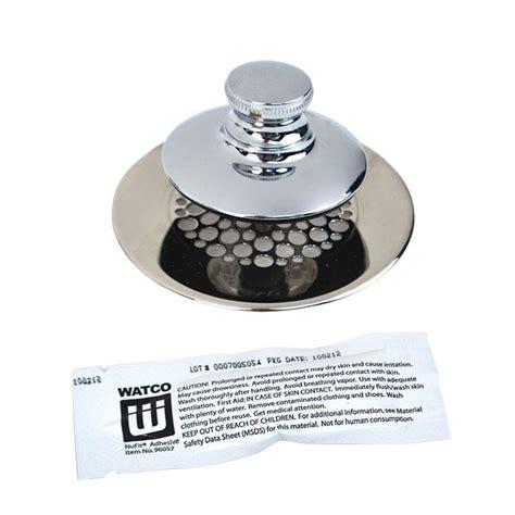 Tub Drain Strainer by Watco Universal Nufit Push Pull Bathtub Stopper Grid