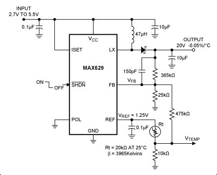 using thermistors in temperature tracking power supplies