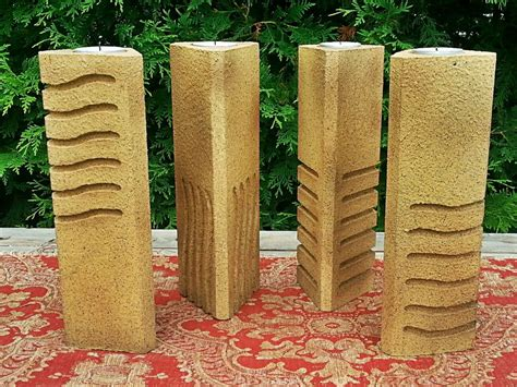 element element stone inspired candle holders