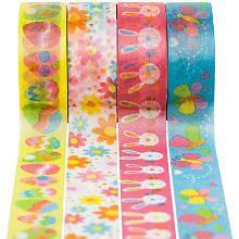 washi buttinette kl 246 ppelspitzen paket quot gr 252 n blaut 246 ne quot 10 15 mm 5x 1 m kaufen buttinette bastelshop