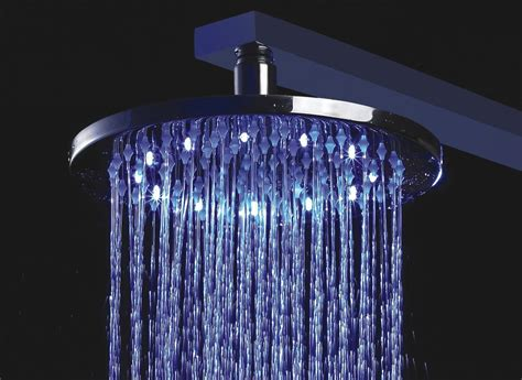 rain shower head with lights get 10 quot solid brass round color changing led rain shower