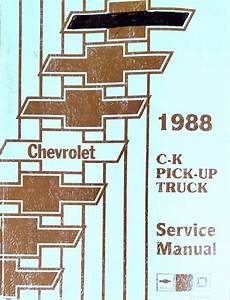 1988 Chevy Scottsdale Silverado Cheyenne Factory Shop