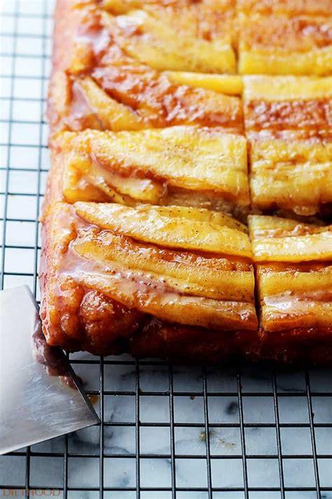 bananas foster upside  cake recipe diethood
