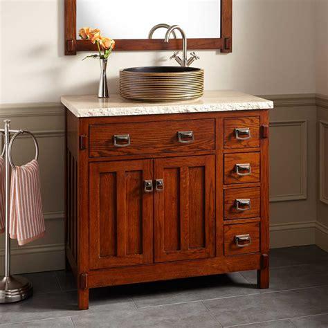 harington oak vessel sink vanity bathroom vanities