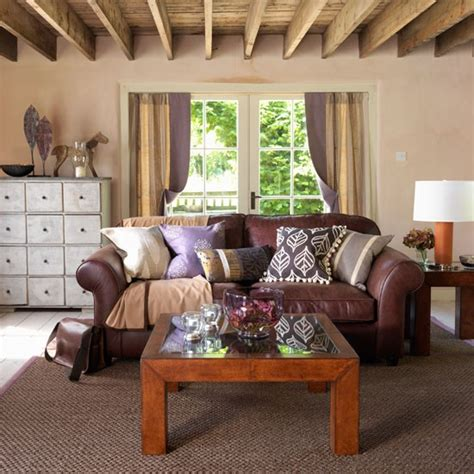 Living Room Ideas Brown Sofa Uk by Living Room Decorating Ideas Country Style Decorating