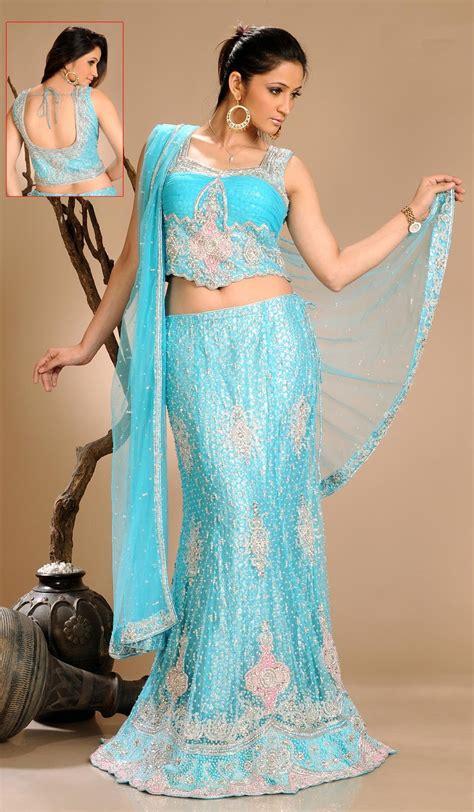fashion club wedding dress lehenga  blue