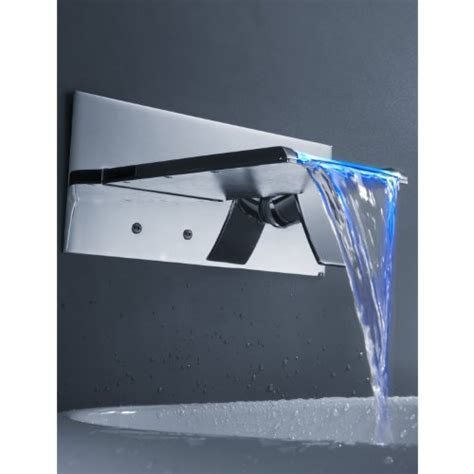 Sprinkle Wall Mount Color Changing Led Waterfall Bathroom